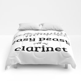 Easy peasy with my clarinet Comforters
