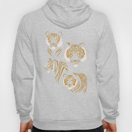 Tigers in Blush + Gold Hoody