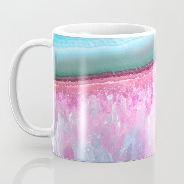 Rose Quartz and Serenity Agate Coffee Mug
