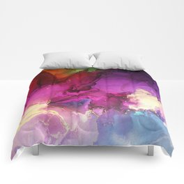 Pour your art out in hot pink Comforters