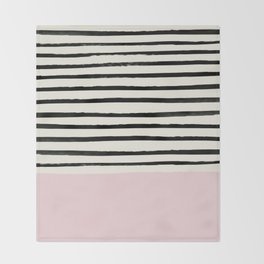 Bubblegum x Stripes Throw Blanket