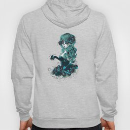 Sugar skull girl in blue Hoody