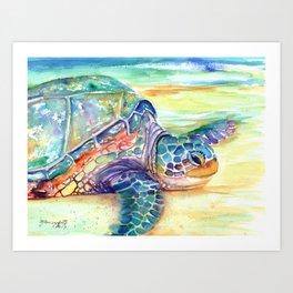 Rainbow Sea Turtle 2 Art Print