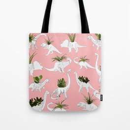 Dinosaurs & Succulents Tote Bag