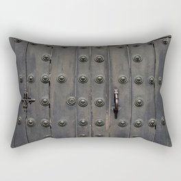 Old Black Door Rectangular Pillow