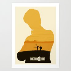 11th Doctor and the Impossible AstronautAmy Pond, Rory and Pandorica  Art Print