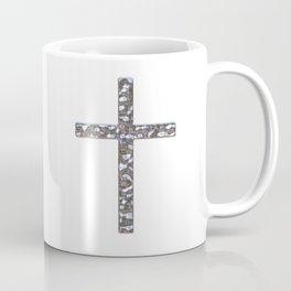 Chrome Crucifix Solid Coffee Mug