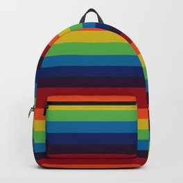 colorful rainbow - colored stripes Backpack