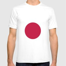 Flag of Japan MEDIUM White Mens Fitted Tee