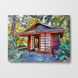 Tea House in the Forest Metal Print