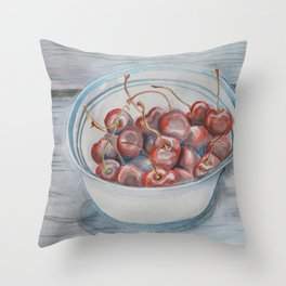 Life is a Bowl of Cherries Throw Pillow