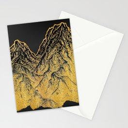 """遠望 series -""""Gold Valley"""" - Linocut Stationery Cards"""