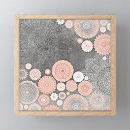 FESTIVAL FLOW BLUSH SUNSHINE Framed Mini Art Print