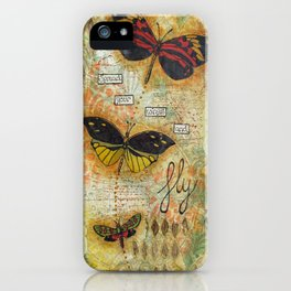 Spread your wings and fly iPhone Case