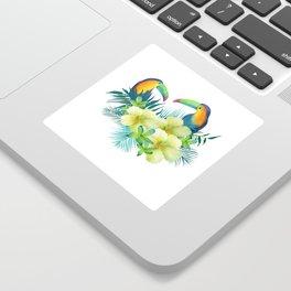 Tropical toucans Sticker