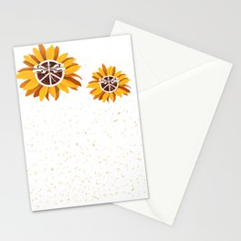 Arvada East Moline City Vintage Faith Hope Love Peace Sign SunFlower Stationery Cards