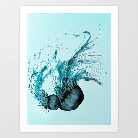 Emerald Waltz, Pacific Sea Nettle Art Print