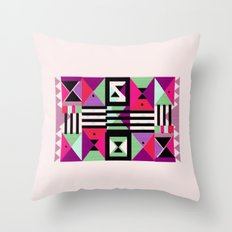 Violet Triangulation Throw Pillow