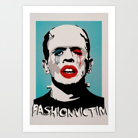 =Boris Karloff=FASHIONVICTIM= Art Print