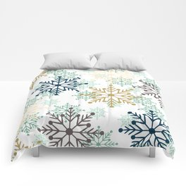 Christmas pattern with snowflakes. Comforters