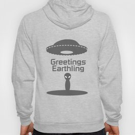 Greetings Earthling Alien Peace  Funny Birthday Gift Hoody