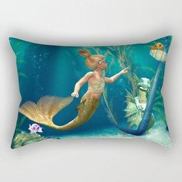 Cute Mermaid 2 Rectangular Pillow