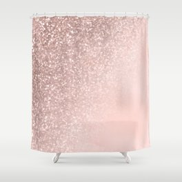 Rose Gold Sparkles on Pretty Blush Pink II Shower Curtain