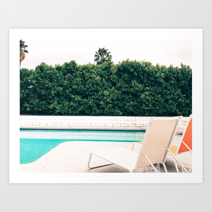 1970 Palm Springs Poolside Art Print
