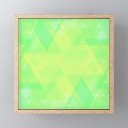Bright lime and lemon triangles in the intersection and overlay. Framed Mini Art Print