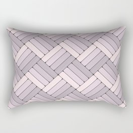 Pattern Play in Pink and Gray Rectangular Pillow