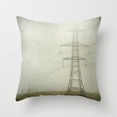 Pylons in the Mist Throw Pillow