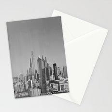 Black and White Philadelphia Skyline Stationery Cards