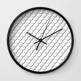White Dragon Scale Wall Clock