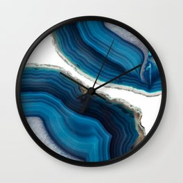 Blue Agate Wall Clock