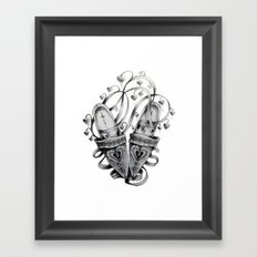 Slippers and Flowers Framed Art Print