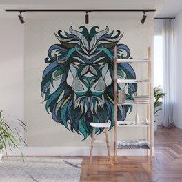 Blue Lion Wall Mural
