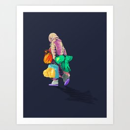 Never Arriving Art Print