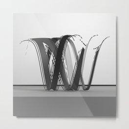 Wavey Letter W Metal Print