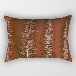 Tamarack Trees Rectangular Pillow