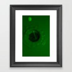 A Drop of Green Framed Art Print