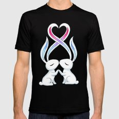 Bunny Kiss Mens Fitted Tee LARGE Black
