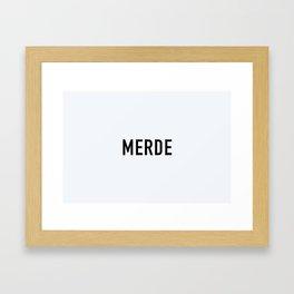 85. Shit Framed Art Print