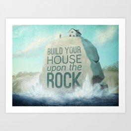 Upon the Rock Art Print
