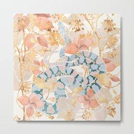 Coral Spring Garden Metal Print