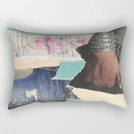 Ripped Jeans Rectangular Pillow