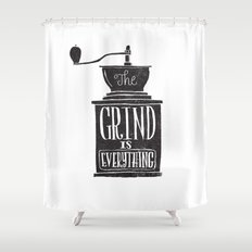 the daily grind Shower Curtain