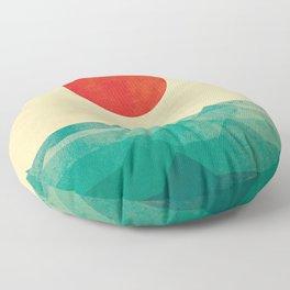 The ocean, the sea, the wave Floor Pillow
