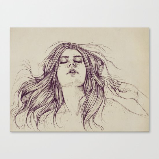 Flowing like the tide Canvas Print