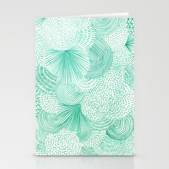 Green Fields Stationery Cards