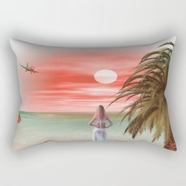 Dreams at sunset Rectangular Pillow